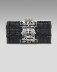 Judith Leiber | Black Pave Violin-sided Clutch | Lyst