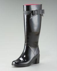 Kate Spade   Black Randi Beribboned Rainboot   Lyst