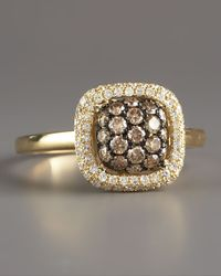 KC Designs - Metallic Champagne White Diamond Ring Yellow - Lyst