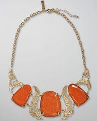 Kendra Scott | Orange Goldstone Iggy Necklace | Lyst