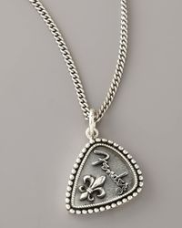 King Baby Studio | Metallic Fender Fleur-de-lis Necklace for Men | Lyst
