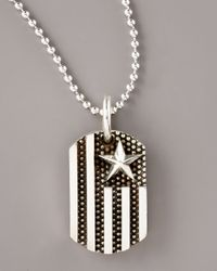 King Baby Studio | Metallic Flag Dog Tag Pendant Necklace for Men | Lyst