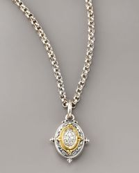 Konstantino - Metallic Pave Diamond Pendant Necklace - Lyst