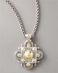 Konstantino | Metallic Silver Gold Clover Pendant | Lyst