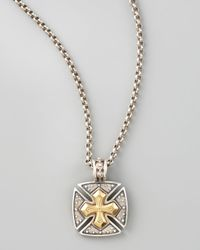 Konstantino | Metallic Byzantine Maltese Cross Necklace for Men | Lyst