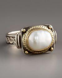 Konstantino - White Pearl Ring - Lyst