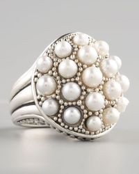 Lagos | White Luna Pearl Dome Ring | Lyst