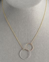 Lana Jewelry - Metallic Magnetic Two-circle Necklace - Lyst
