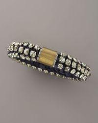 Lanvin - Beaded Silk Bracelet, Blue - Lyst
