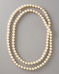 Majorica - White Infinity Pearl Necklace - Lyst