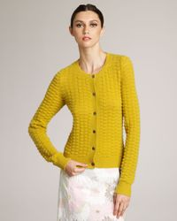 Marc Jacobs - Yellow Textured Cashmere Cardigan - Lyst