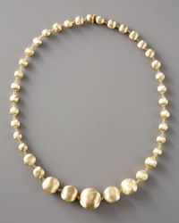 Marco Bicego | Metallic Graduated Gold-bead Necklace, 18l | Lyst