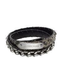 Michael Kors | Metallic Python-embossed Wrap Bracelet | Lyst