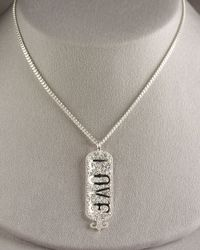 Mizuki | Metallic Love Tag Necklace | Lyst