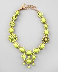 Oscar de la Renta | Yellow Chartreuse Resin Necklace | Lyst