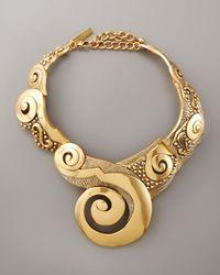 Oscar de la Renta - Metallic Swirl Collar Necklace - Lyst