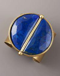 Paige Novick | Blue Lapis Medallion Cuff | Lyst