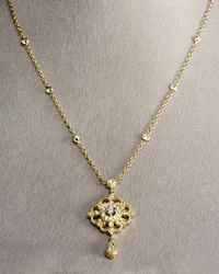 Penny Preville | Metallic Gold Chain & Pendant | Lyst