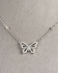 Penny Preville | Metallic Butterfly Pendant Necklace | Lyst