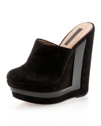 Rachel Zoe | Black Emma Open-back Wedge Clog | Lyst
