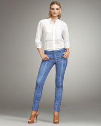 Roberto Cavalli | Blue Snake-print Jeans | Lyst