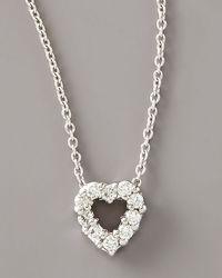 Roberto Coin - White Diamond Heart Pendant Necklace - Lyst