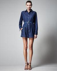 Stella McCartney   Blue Denim Jumpsuit   Lyst