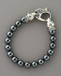 Stephen Webster | Blue 10mm Hematite Bead Bracelet for Men | Lyst