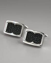 Stephen Webster | Black Stingray-texture Cuff Links for Men | Lyst