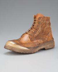 True Religion | Brown Oswald Distressed Wing-tip Boot for Men | Lyst
