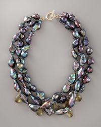 Wendy Brigode - Black Baroque Pearl Necklace - Lyst