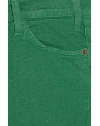 Current/Elliott | Green The Ankle Mid-rise Skinny Jeans | Lyst