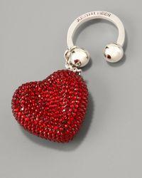 Judith Leiber | Heart N Soul Key Ring, Red | Lyst