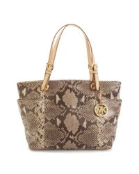 Michael Kors | Multicolor Embossed Python Item Tote | Lyst