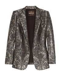 Roberto Cavalli | Gray Silk-blend Jacquard Jacket | Lyst