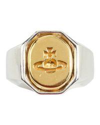 Vivienne Westwood - Metallic Intaglio Ring - Lyst