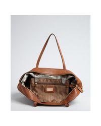 Ferragamo - Brown Tan Leather Bice Gancio Tote - Lyst