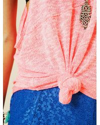 Free People - Pink We The Free Venice Vibes Tank - Lyst