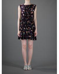 See By Chloé | Purple Bird Dress | Lyst