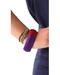 Sequence - Multicolor Individual Threaded Bangles - Lyst