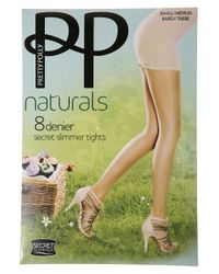 TOPSHOP - Natural Pretty Polly Slimmer Tights - Lyst