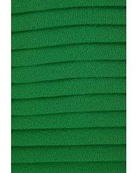 Elie Saab | Green Silk Lng Drs W Lace Insert34 | Lyst