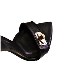Givenchy   Black Leather and Suede Sandal   Lyst