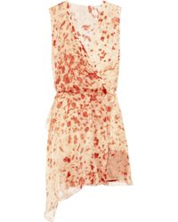 Reed Krakoff | Orange Appaloosa Printed Silk Crepe De Chine Dress | Lyst