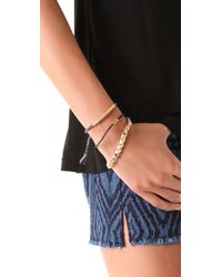 Tai | Blue Safety Pin Charm Bracelet | Lyst