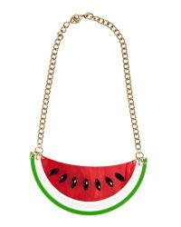 Tatty Devine - Red Large Melon Cantaloupe Necklace - Lyst