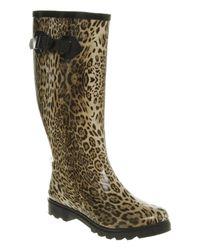 Office | Animal Nutty Knee Welly Leopard Rubber | Lyst