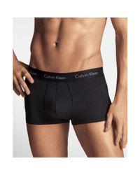 Calvin Klein - Black Microfiber Stretch Trunk 2 Pack for Men - Lyst