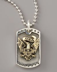 King Baby Studio | Metallic Eagle Dog Tag Necklace for Men | Lyst