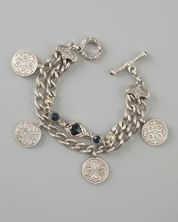 Konstantino | Blue Coin Charm Bracelet | Lyst